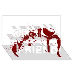 Blood Splatter 6 Best Friends 3D Greeting Card (8x4)