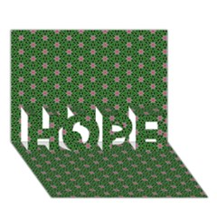 Cute Seamless Tile Pattern Gifts Hope 3d Greeting Card (7x5)  by creativemom