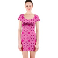 Cute Seamless Tile Pattern Gifts Short Sleeve Bodycon Dresses by creativemom