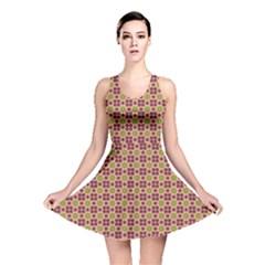 Cute Seamless Tile Pattern Gifts Reversible Skater Dresses