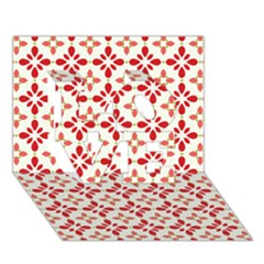 Cute Seamless Tile Pattern Gifts Love 3d Greeting Card (7x5)  by creativemom