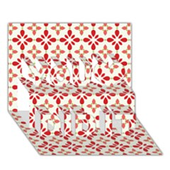 Cute Seamless Tile Pattern Gifts You Did It 3d Greeting Card (7x5) by creativemom