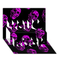 Purple Skulls  You Rock 3d Greeting Card (7x5)
