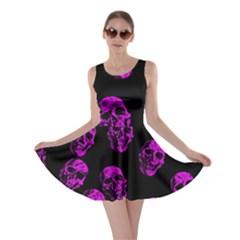 Purple Skulls  Skater Dresses