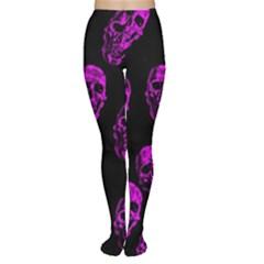 Purple Skulls  Women s Tights