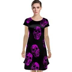 Purple Skulls  Cap Sleeve Nightdresses by ImpressiveMoments