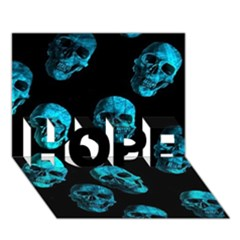 Skulls Blue Hope 3d Greeting Card (7x5)