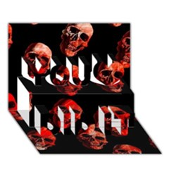 Skulls Red You Did It 3d Greeting Card (7x5)
