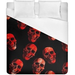 Skulls Red Duvet Cover Single Side (Double Size) by ImpressiveMoments