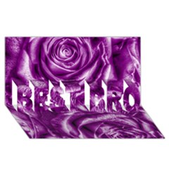 Gorgeous Roses,purple  Best Bro 3d Greeting Card (8x4)  by MoreColorsinLife
