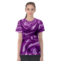 Gorgeous Roses,purple  Women s Sport Mesh Tees
