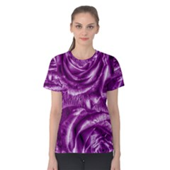 Gorgeous Roses,purple  Women s Cotton Tees