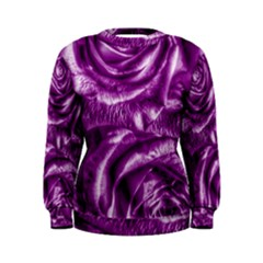 Gorgeous Roses,purple  Women s Sweatshirts