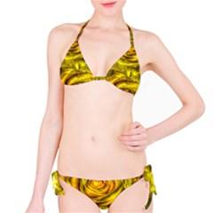 Gorgeous Roses, Yellow  Bikini Set
