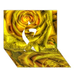 Gorgeous Roses, Yellow  Ribbon 3d Greeting Card (7x5)