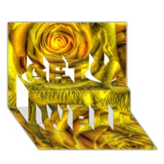 Gorgeous Roses, Yellow  Get Well 3d Greeting Card (7x5)
