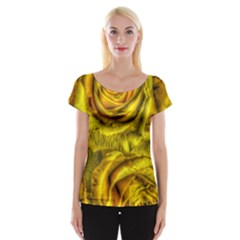 Gorgeous Roses, Yellow  Women s Cap Sleeve Top by MoreColorsinLife