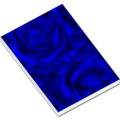 Gorgeous Roses,deep Blue Large Memo Pads