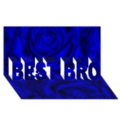 Gorgeous Roses,deep Blue Best Bro 3d Greeting Card (8x4)