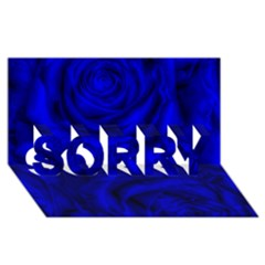 Gorgeous Roses,deep Blue Sorry 3d Greeting Card (8x4)