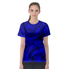 Gorgeous Roses,deep Blue Women s Sport Mesh Tees