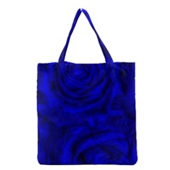 Gorgeous Roses,deep Blue Grocery Tote Bags