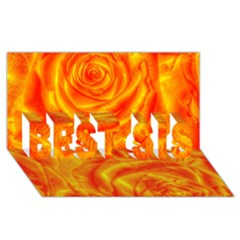 Gorgeous Roses, Orange Best Sis 3d Greeting Card (8x4)