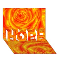 Gorgeous Roses, Orange Hope 3d Greeting Card (7x5)