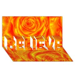 Gorgeous Roses, Orange Believe 3d Greeting Card (8x4)