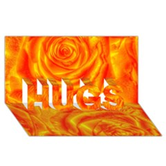 Gorgeous Roses, Orange Hugs 3d Greeting Card (8x4)