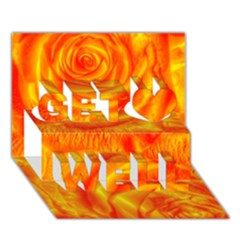 Gorgeous Roses, Orange Get Well 3d Greeting Card (7x5)