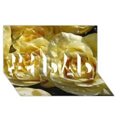 Yellow Roses #1 Dad 3d Greeting Card (8x4)