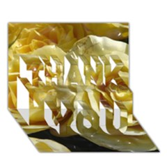 Yellow Roses Thank You 3d Greeting Card (7x5)  by MoreColorsinLife