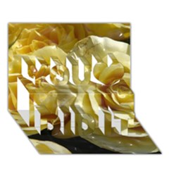 Yellow Roses You Did It 3d Greeting Card (7x5) by MoreColorsinLife