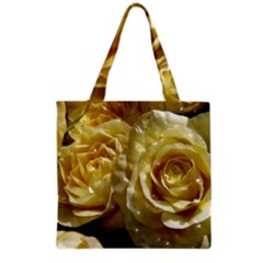 Yellow Roses Grocery Tote Bags