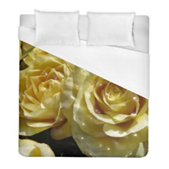 Yellow Roses Duvet Cover Single Side (twin Size) by MoreColorsinLife