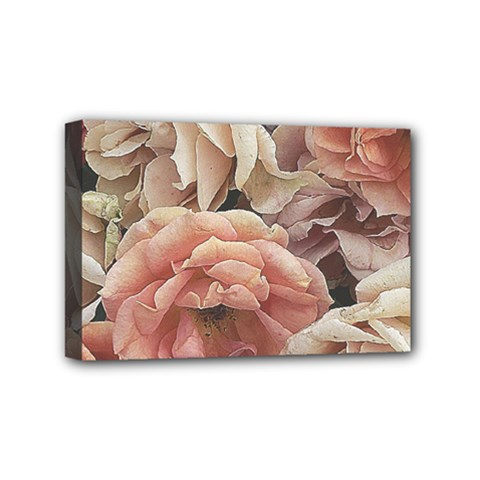 Great Garden Roses, Vintage Look  Mini Canvas 6  X 4