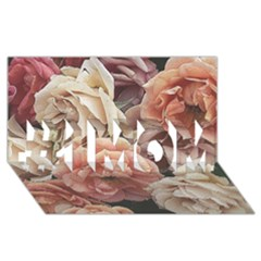 Great Garden Roses, Vintage Look  #1 Mom 3d Greeting Cards (8x4)