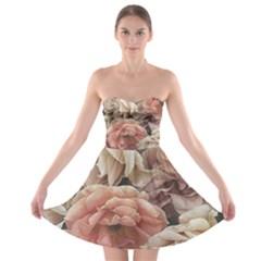 Great Garden Roses, Vintage Look  Strapless Bra Top Dress by MoreColorsinLife