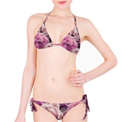 Great Garden Roses Pink Bikini Set