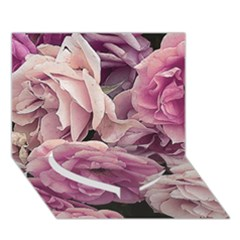 Great Garden Roses Pink Heart Bottom 3d Greeting Card (7x5)
