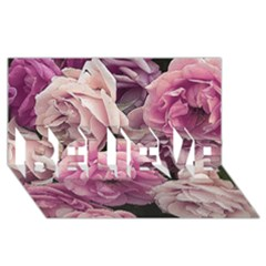 Great Garden Roses Pink Believe 3d Greeting Card (8x4)  by MoreColorsinLife