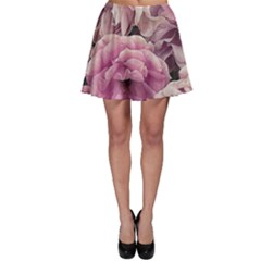 Great Garden Roses Pink Skater Skirts by MoreColorsinLife