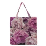 Great Garden Roses Pink Grocery Tote Bags