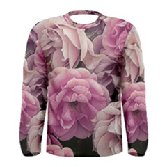 Great Garden Roses Pink Men s Long Sleeve T Shirts