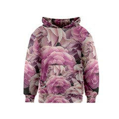 Great Garden Roses Pink Kid s Pullover Hoodies