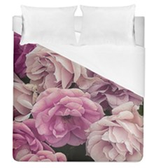 Great Garden Roses Pink Duvet Cover Single Side (full/queen Size)