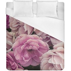 Great Garden Roses Pink Duvet Cover Single Side (Double Size) by MoreColorsinLife