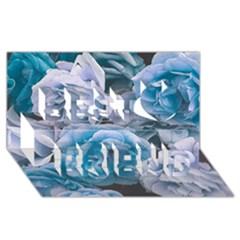 Great Garden Roses Blue Best Friends 3d Greeting Card (8x4)