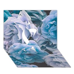 Great Garden Roses Blue Ribbon 3d Greeting Card (7x5)